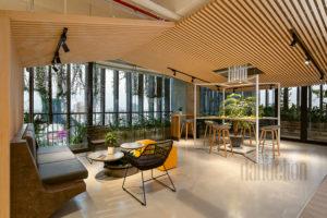 resort vibe in Bespokify Fashion-tech office in Danang by Dandelion Design 24